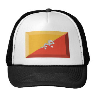 Bhutan Flag Jewel Trucker Hat