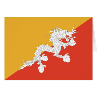 Bhutan Flag Notecard Stationery Note Card