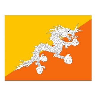 Bhutan Flag Postcard