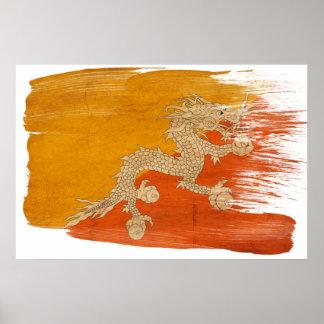 Bhutan Flag Posters
