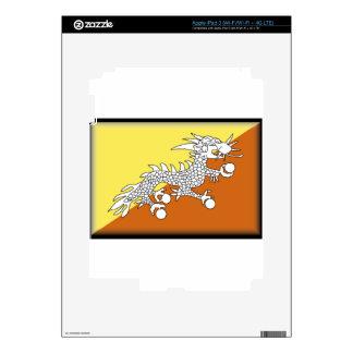 Bhutan Flag Skin For iPad 3