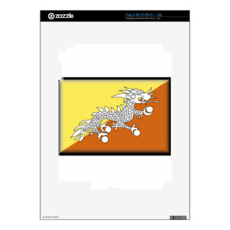 Bhutan Flag Skins For iPad 2