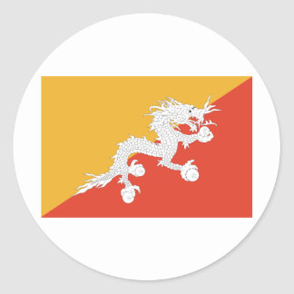 Bhutan Flag Sticker