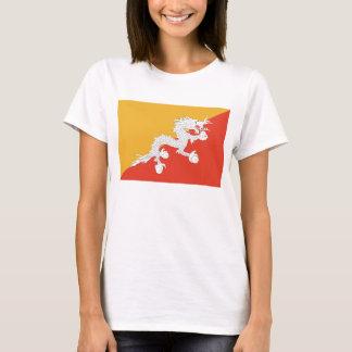 Bhutan Flag x Map T-Shirt