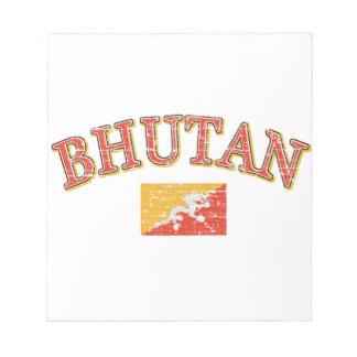 Bhutan football design memo pads
