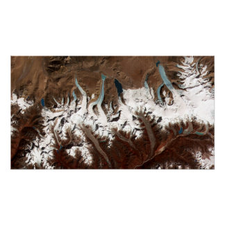 Bhutan Glaciers from Space Poster