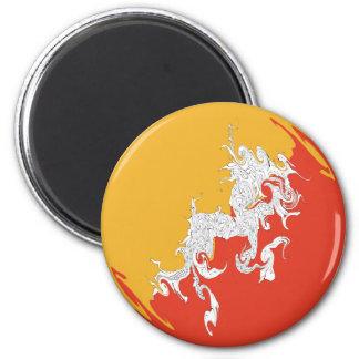 Bhutan Gnarly Flag Magnet