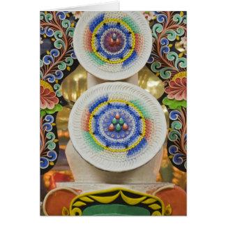 Bhután. Las tortas ceremoniales hechas por los mon Tarjeta De Felicitación