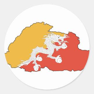 Bhutan map BT Stickers