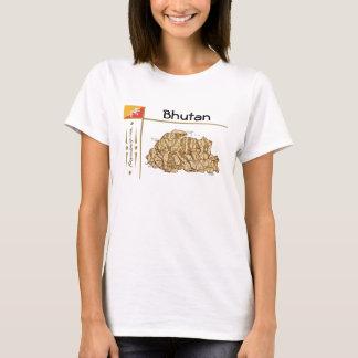 Bhutan Map + Flag + Title T-Shirt