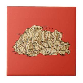 Bhutan Map Tile