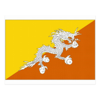 Bhutan National Flag Postcard