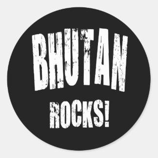 Bhutan Rocks! Round Stickers