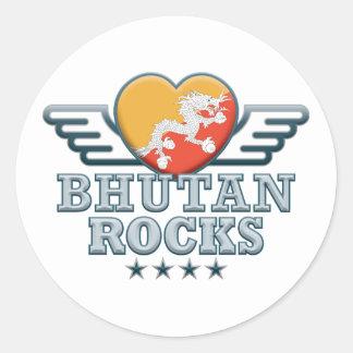 Bhutan Rocks v2 Stickers