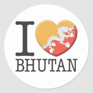 Bhutan Round Sticker