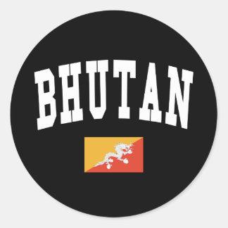 Bhutan Style Round Sticker