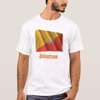 Bhutan Waving Flag with Name T-Shirt