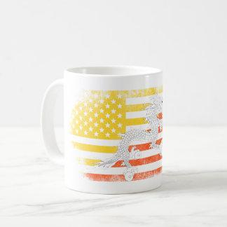 Bhutanese American Flag   Bhutan and USA Design Coffee Mug