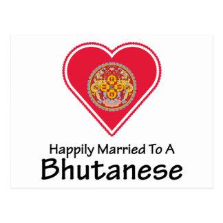 Bhutanese feliz casado tarjeta postal