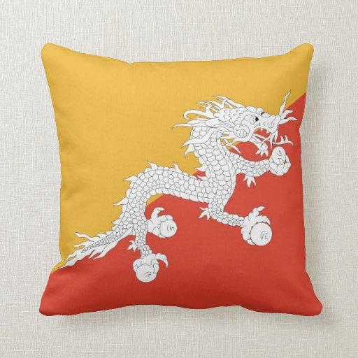Bhutanese Flag American MoJo Pillow
