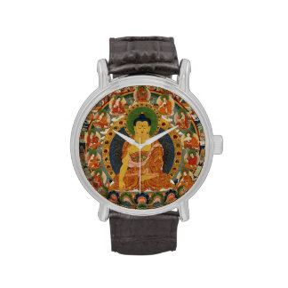 Bhutanese painted complete mandala watches