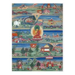 Bhutanese painted thanka of the Jataka Tales Postcard