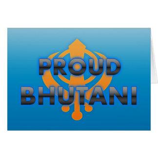 Bhutani orgulloso, orgullo de Bhutani Tarjeton