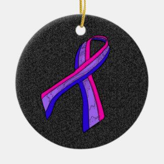 Bi Awareness Ribbon Ceramic Ornament