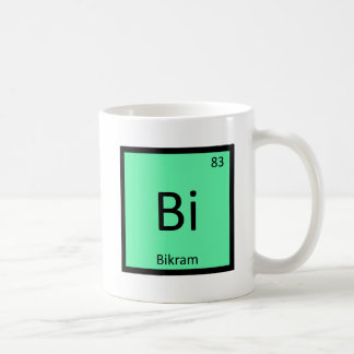 Bi - Bikram Yoga Chemistry Periodic Table Symbol Coffee Mug