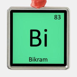 Bi - Bikram Yoga Chemistry Periodic Table Symbol Metal Ornament