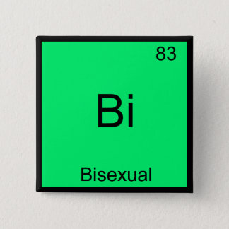 Bi - Bisexual Chemistry Element Symbol Funny Button