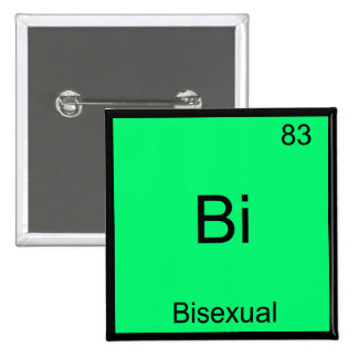 Bi - Bisexual Chemistry Element Symbol Funny 2 Inch Square Button