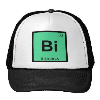 Bi - Bismarck North Dakota Chemistry City Symbol Trucker Hat