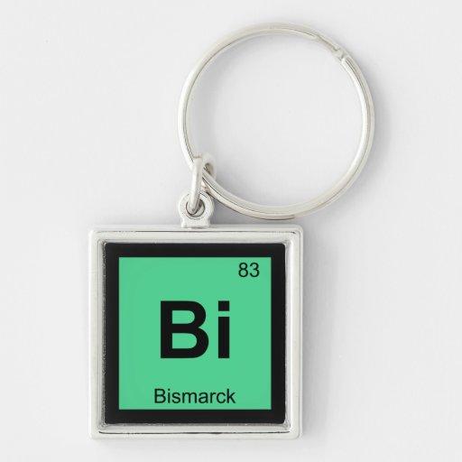 Bi - Bismarck North Dakota Chemistry City Symbol Keychain
