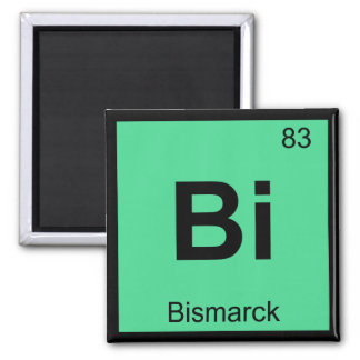 Bi - Bismarck North Dakota Chemistry City Symbol Magnet