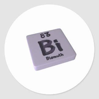 Bi Bismuth Classic Round Sticker