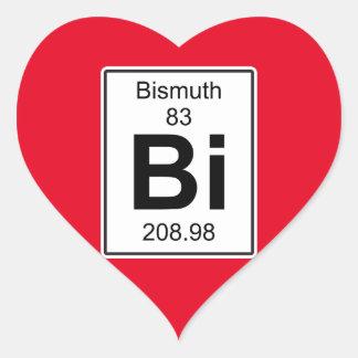 Bi - Bismuth Heart Sticker