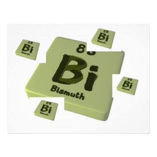 Bi Bismuth Letterhead