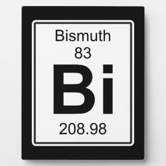 Bi - Bismuth Plaque
