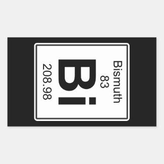 Bi - Bismuth Rectangular Sticker