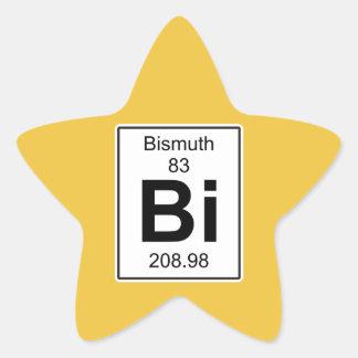 Bi - Bismuth Star Sticker