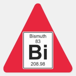 Bi - Bismuth Triangle Sticker