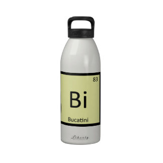 Bi - Bucatini Pasta Chemistry Periodic Table Reusable Water Bottle