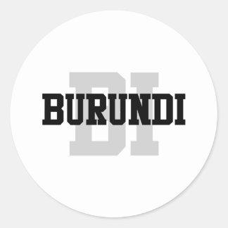 BI Burundi Classic Round Sticker