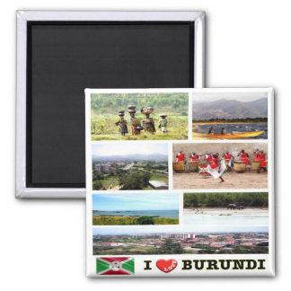 BI - Burundi - I Love - Collage Magnet
