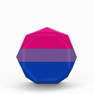 Bi Flag Flies For Bisexual Pride Acrylic Award