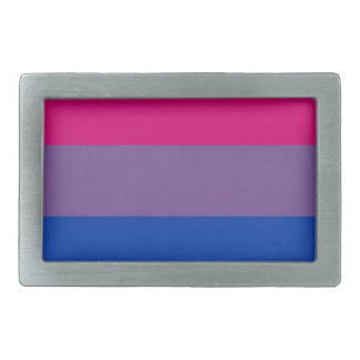 Bi Flag Flies For Bisexual Pride Belt Buckle