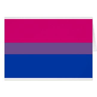 Bi Flag Flies For Bisexual Pride Card