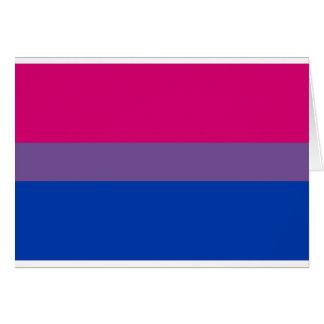 Bi Flag Flies For Bisexual Pride Card