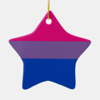 Bi Flag Flies For Bisexual Pride Ceramic Ornament